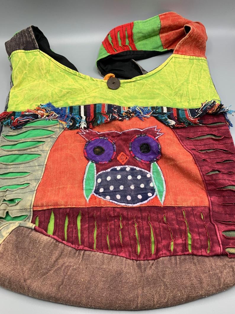 Owl Crossbody Messenger Sling Hobo Beach Bag Purse