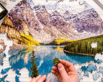 Wooden Puzzles for Adults National Park Banff Canadian Gifts Puzzle Gift Board Games for Adults Jigsaw Puzzles Birthday Girlfriend Gift