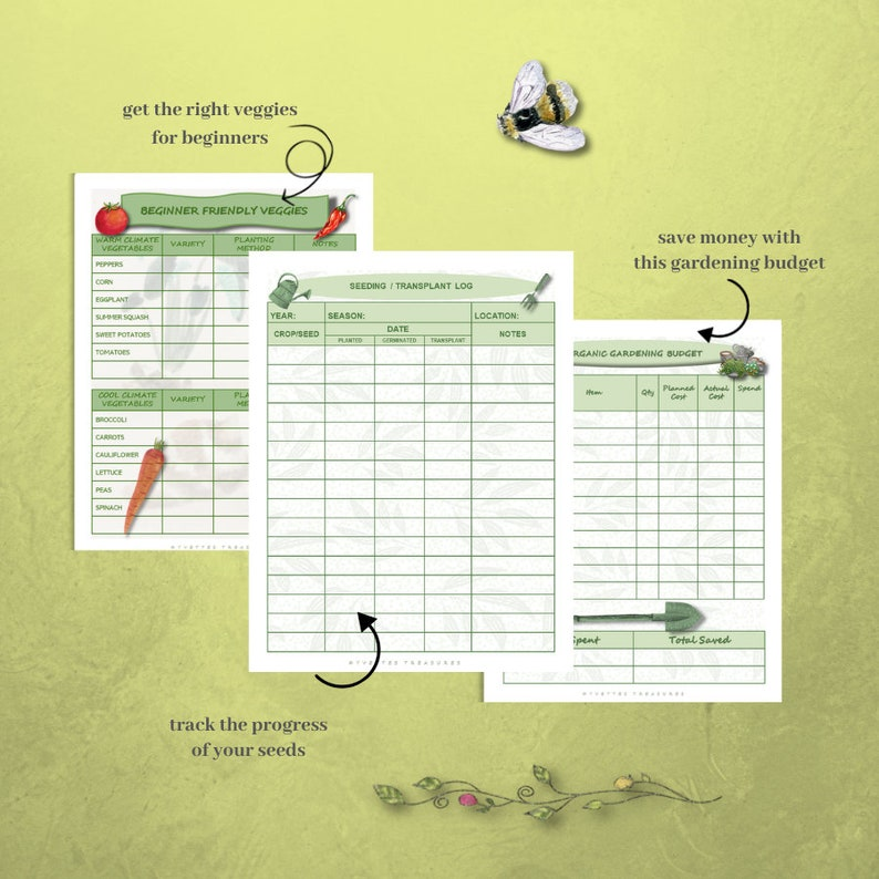 Organic Gardening Planner and Printables