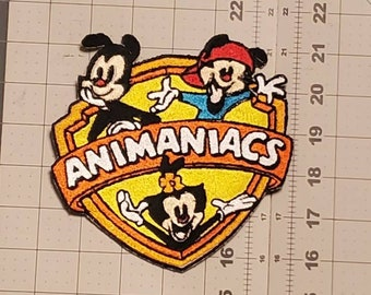 Animaniacs iron on patch, 90's cartoons, 5.75in*5.75in