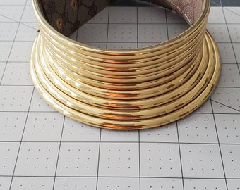 Gold African choker necklace,collar necklace, neck ring,African jewelry, ndebele