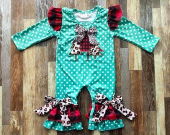 Baby Christmas romper, baby oneself, Christmas outfit