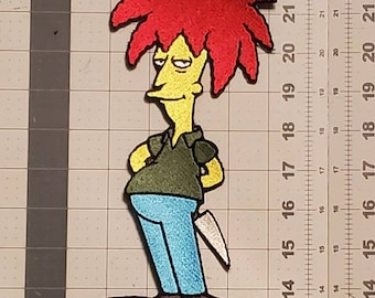 Side show Bob Simpsons iron on patch 9.5in*4.25in