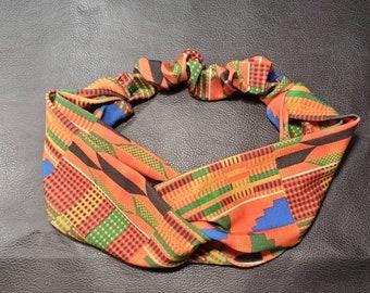 African Kente print turban headband,turban,headband kente, African print spandex,ankara