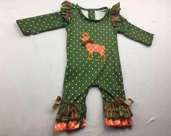 Baby Christmas romper, baby oneself, Christmas outfit, baby romper