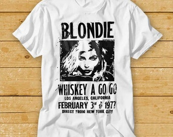 Unofficial Retro Gig Poster Blondie and Furs MENS T SHIRT rock punk music cool
