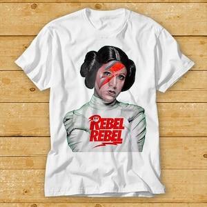 T-Shirt Princess Le ia Re bel Sc um Da vid Bo wie Ziggy Aladdin Stardust Sane Fun Funshirt