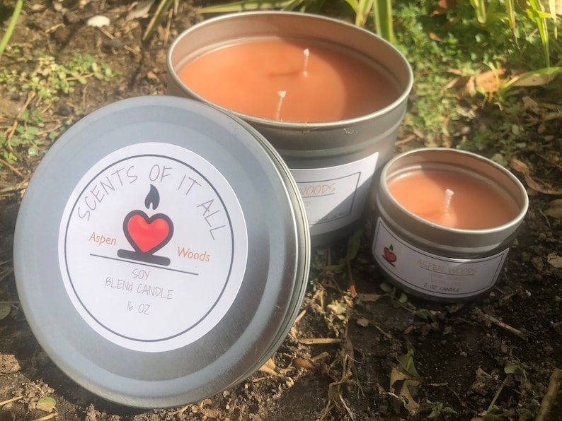 Crackle candle Fall candle Delicious scent. ASPEN WOODS wood wick 16oz soy candle jar candle