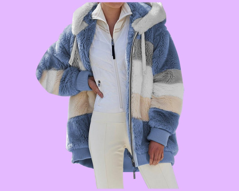 Women/'s Winter Fleece  jacketOversized  Vintage Plaid Shirt Winter Jacket  Long Sleeve Warm Casual  Pocket Outerwear