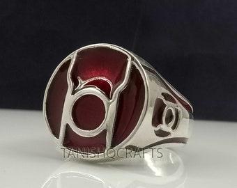 Red Lantern sterling silver band michaelmjdesigns