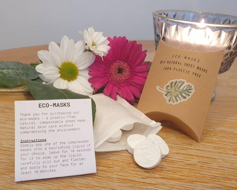 Eco-masks  DIY beauty tissue / sheet masks. Biodegradable image 1