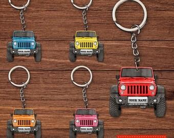 Jeep Keychain Personalized \u2022 Jeep Lover Keychain \u2022 Jeep Life \u2022 Jeep Accessory \u2022 Jeep Gift \u2022 Personalized Jeep Wrangler \u2022 GPS \u2022 Off Roading
