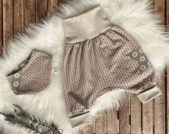 Baby Pump Pants Triangular Scarf/Baby Set/Beige/Size 44-116/Children/Girls/Boys/Stars/Scarf/Co-wax Pants/Lybstes/