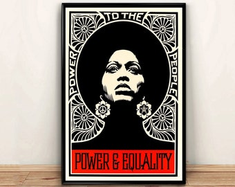 Angela Davis Poster,Fashion Wall Art Canvas Painting Wall Decor