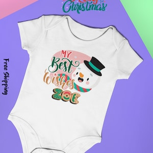 Made in USA Custom Baby Bodysuit Baby Clothes Cotton New Baby Gifts Baby Gifts