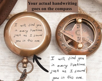 Couple Anniversary Gift, Personalized gift compass , Gift for him Engraved compass , Gift for Dad, Boyfriend Gift for Men , SC