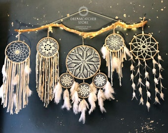 Details about  /Large Feather Dream Catcher High Quality Hanging Decor 110 Cm RARE