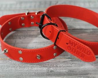 Pet leather collar,collar tejido para mascota,embroidered collar Dog Collar