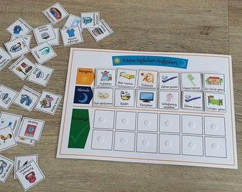Routine planner for children - customizable, daily tasks, morning & evening, responsibilities, checklist, task list