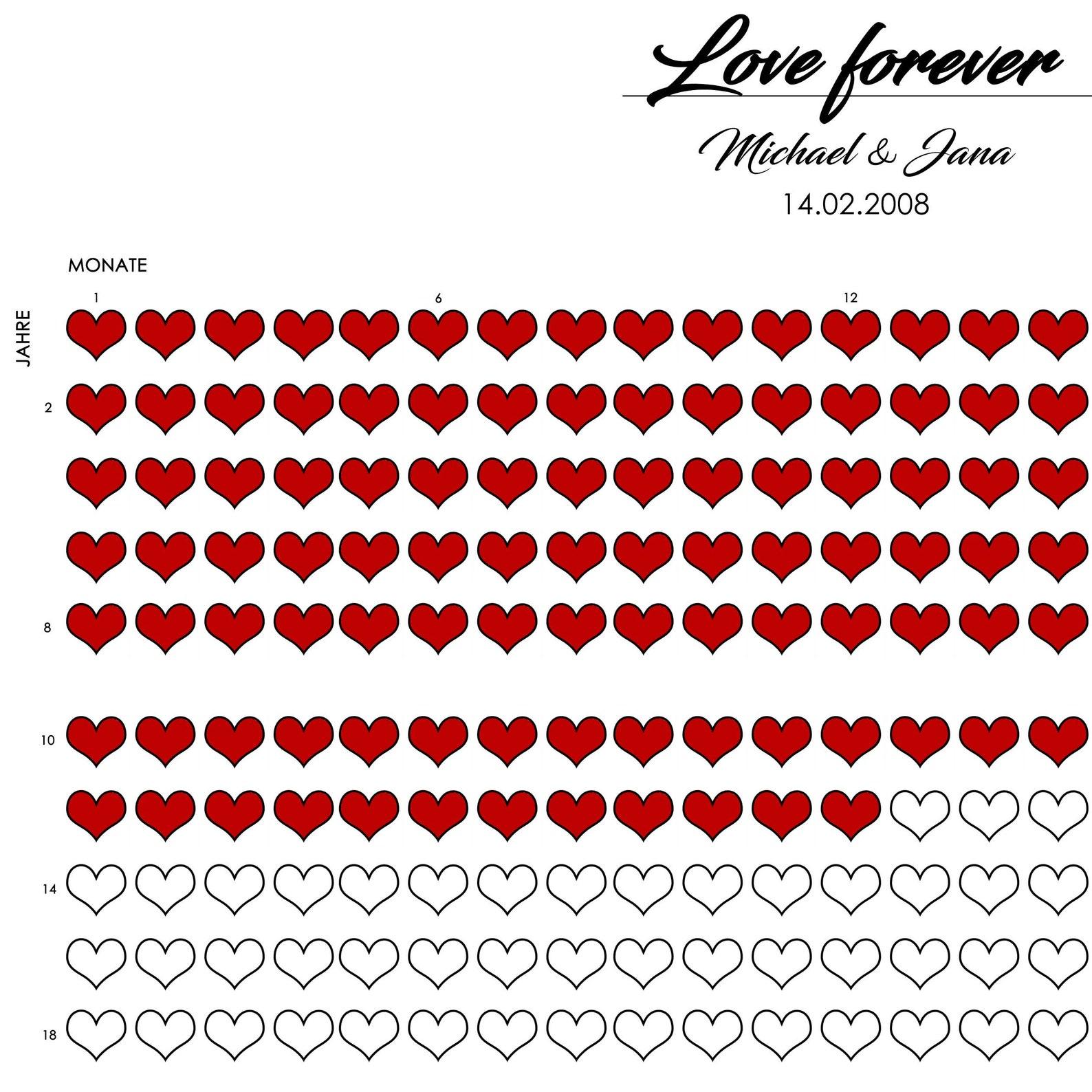 Liebeskalender 1 Herz 1 Monat Beziehung/Verheiratet   Etsy