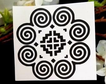 vinyl 2x2 Customized Hmong decal