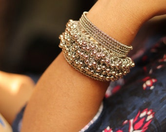 Pair of Ghungru small Christmas bell thread bangles  bracelet