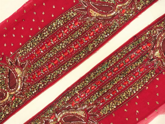 Trims By Yard Embellishments Decorative Ribbon Trims & Lace Vintage Indian Border Crafts Sewing Dress Making Supplies