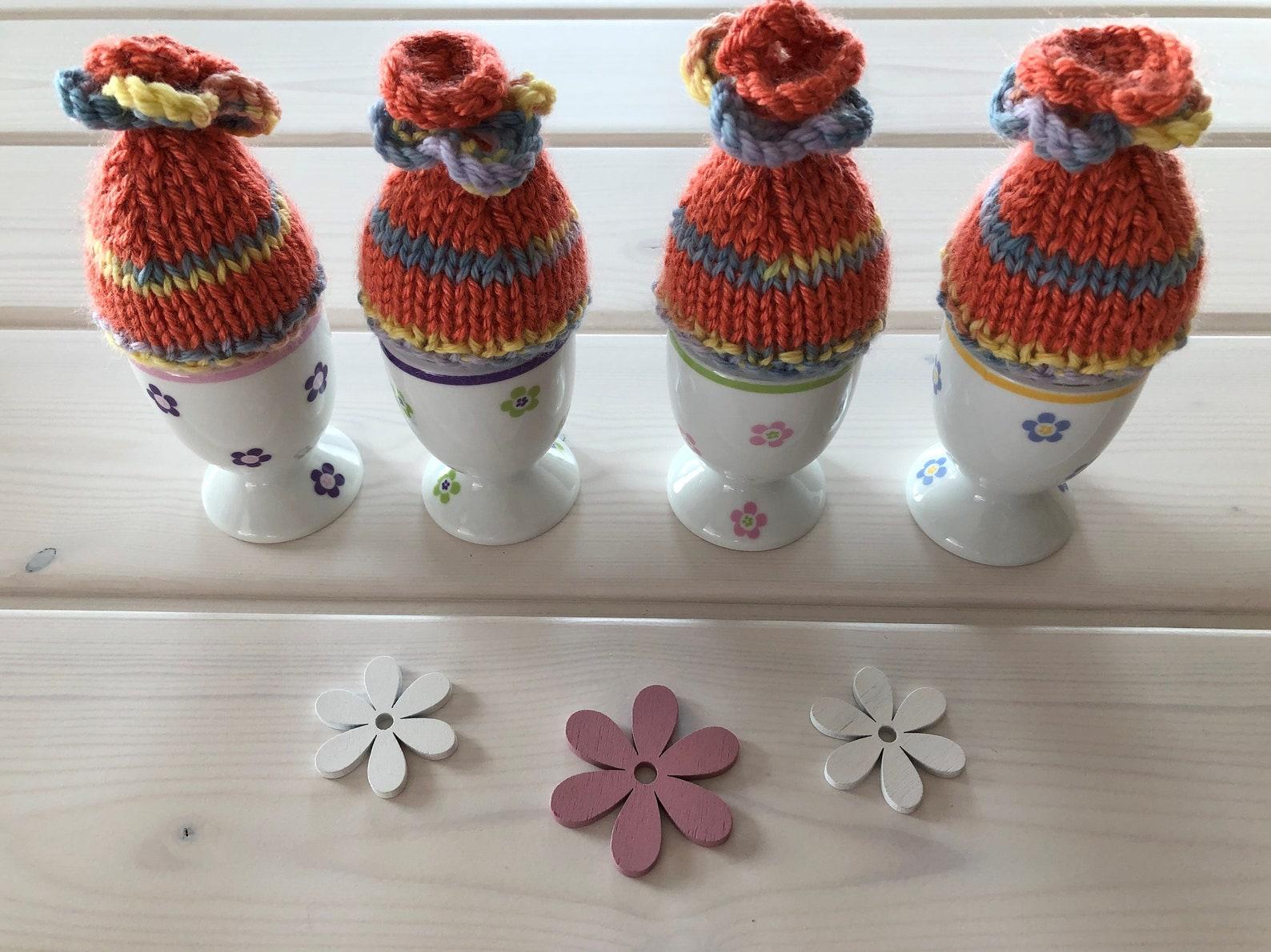 Egg cozy, egg warmer, Easter egg beanie, knitted egg cozies