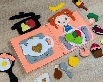 Quietbook Quiet Book Felt Book Playbook Quiet Book Kitchen Gift Doll Soft Busy Board Montessori Children's Book