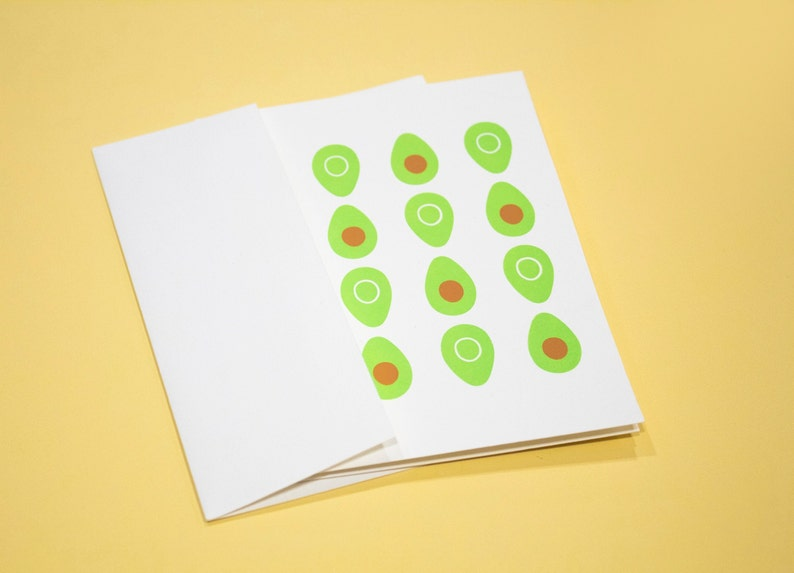 Set of 6 Fruit Pattern Mix Hand Screen Printed Greeting Cards 100/% Recycled Paper