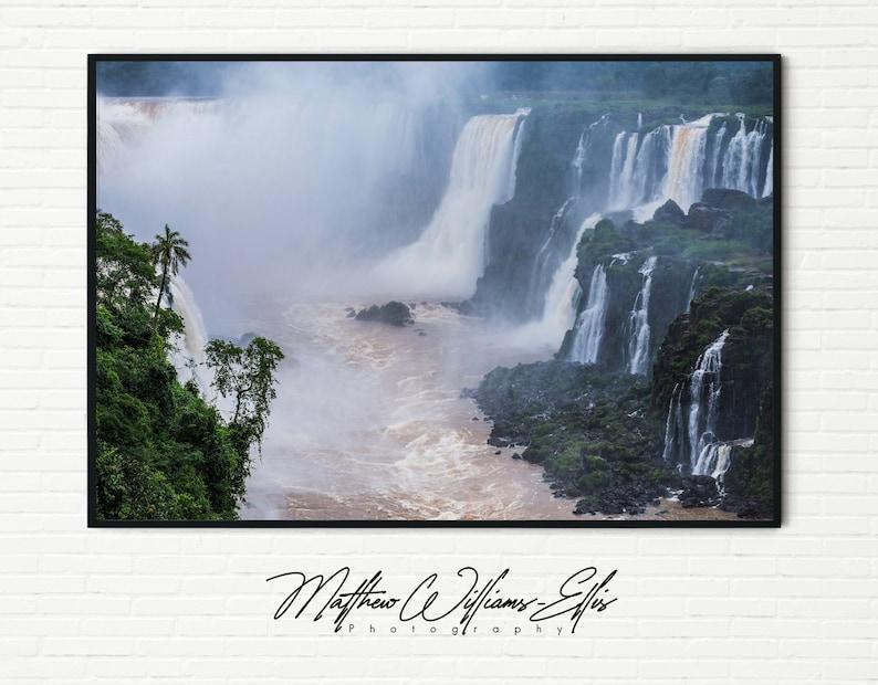 Tropical Rainforest Home Decor Argentina Framed Unframed A4 A3 Iguazu Falls Landscape Photography Wall Art Waterfall Photo Nature Print