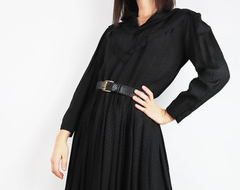 Vintage Dress With Ruffles And Lurex Details