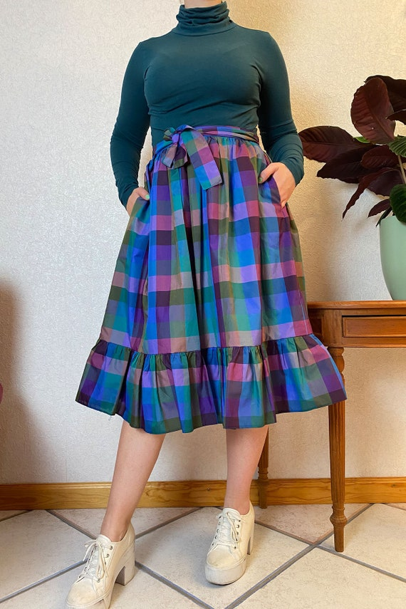Vintage Midiskirt With Ruffles