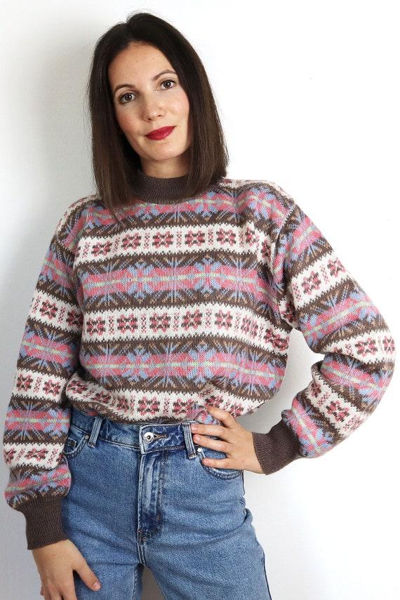 Vintage Norwegian Knit Pullover