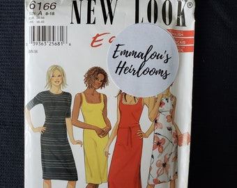 New Look Sewing Pattern 6166 Easy Stretch Dress Size 8-18 UNCUT FF Complete