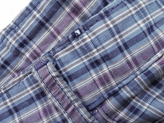 70s Vintage Lee Pants, 80s Pants, Retro Plaid Pan… - image 6
