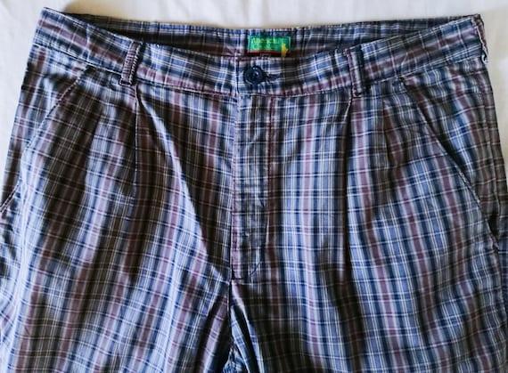 70s Vintage Lee Pants, 80s Pants, Retro Plaid Pan… - image 3