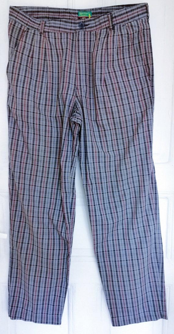 70s Vintage Lee Pants, 80s Pants, Retro Plaid Pan… - image 2