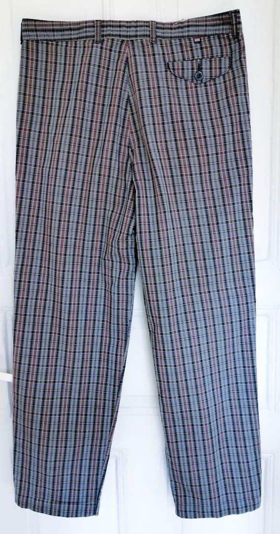 70s Vintage Lee Pants, 80s Pants, Retro Plaid Pan… - image 1