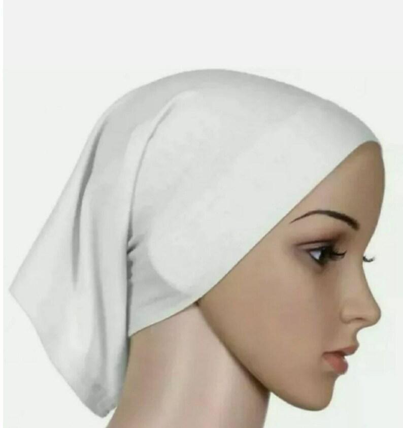 Details about New Women Ladies Under scarf Hijab Tube Bonnet Bone Cap Band Premium Quality
