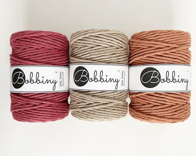 5mm Macrame Cord/ Recycled Cotton Cord/Bobbiny/Macrame String