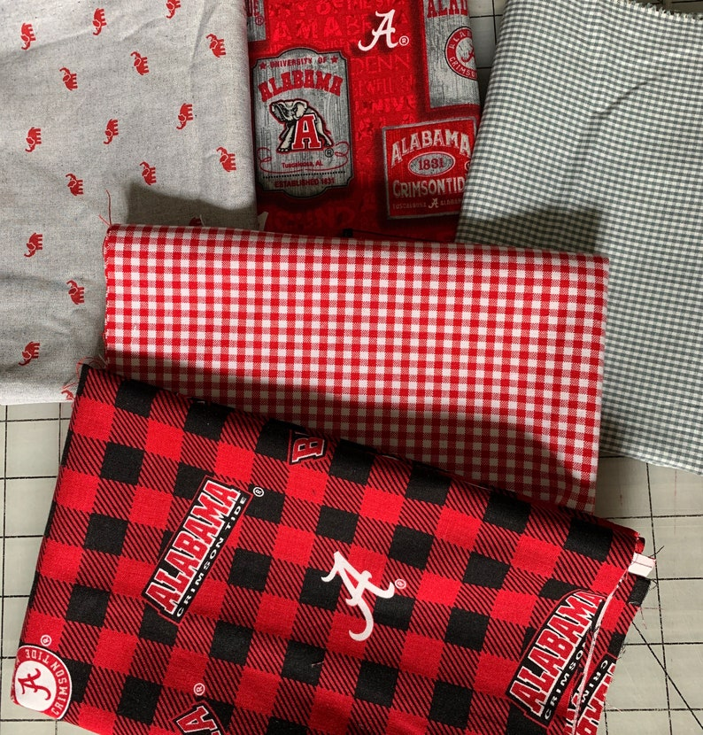 Roll Tide Elephant Alabama Fat Quarter Pack Cotton Fabric by Fabric Finders Bama