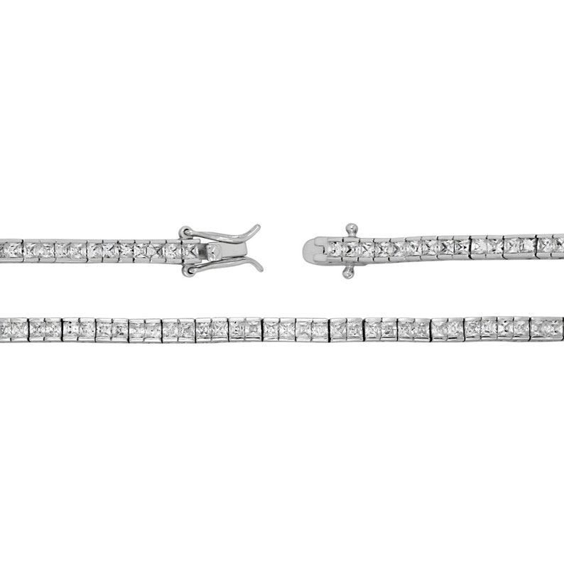925 Sterling Silver Hallmarked Tennis Bracelet 10gr 7.5 inches for Ladies Mother\u2019s Day gift