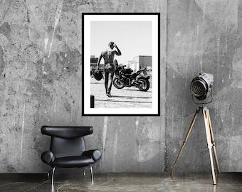 Bike life art print   Black and white art   Motorcycle poster   Photography poster   Léon Wodtke