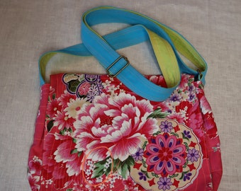 Oriental Blossom Stylish Floral Pink Clutch Bag