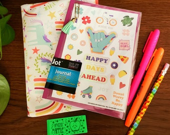 Young teen journal kit, mini journal kit, girly journal and supplies