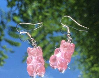 Gummy Bear Earrings,rainbow earrings, kid core earrings, nostalgic earrings