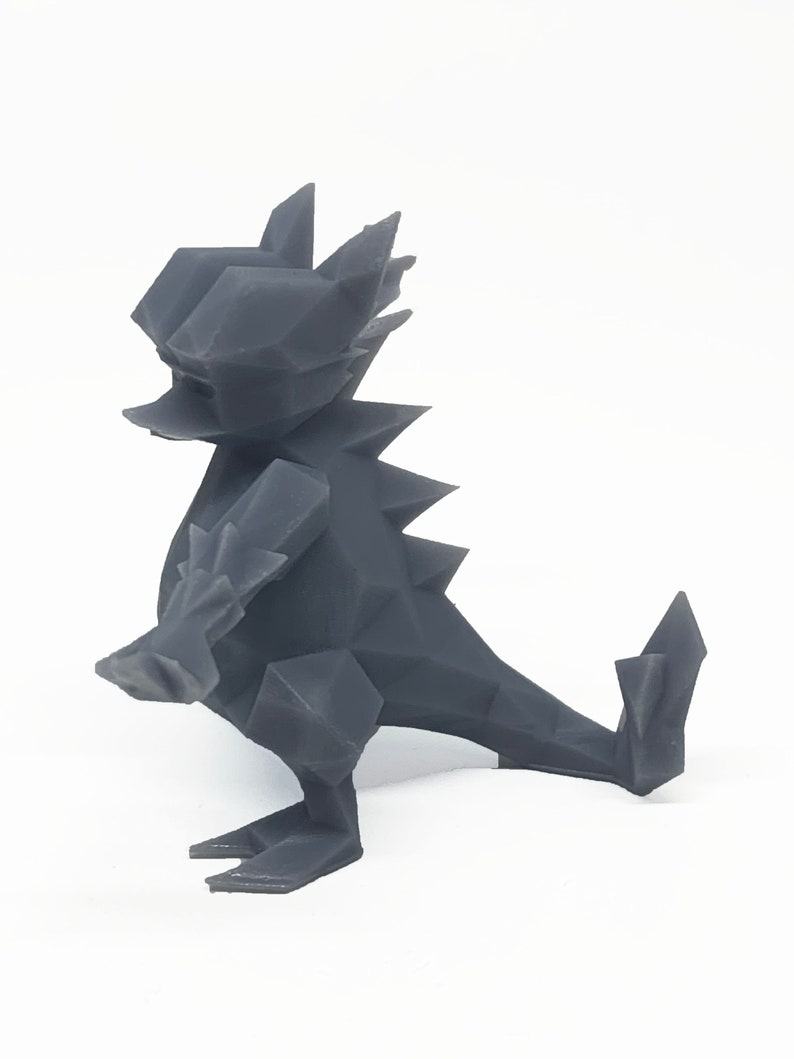 Washed And Cured Pokemon Generation 126 Magmar Low Poly 3D Printed