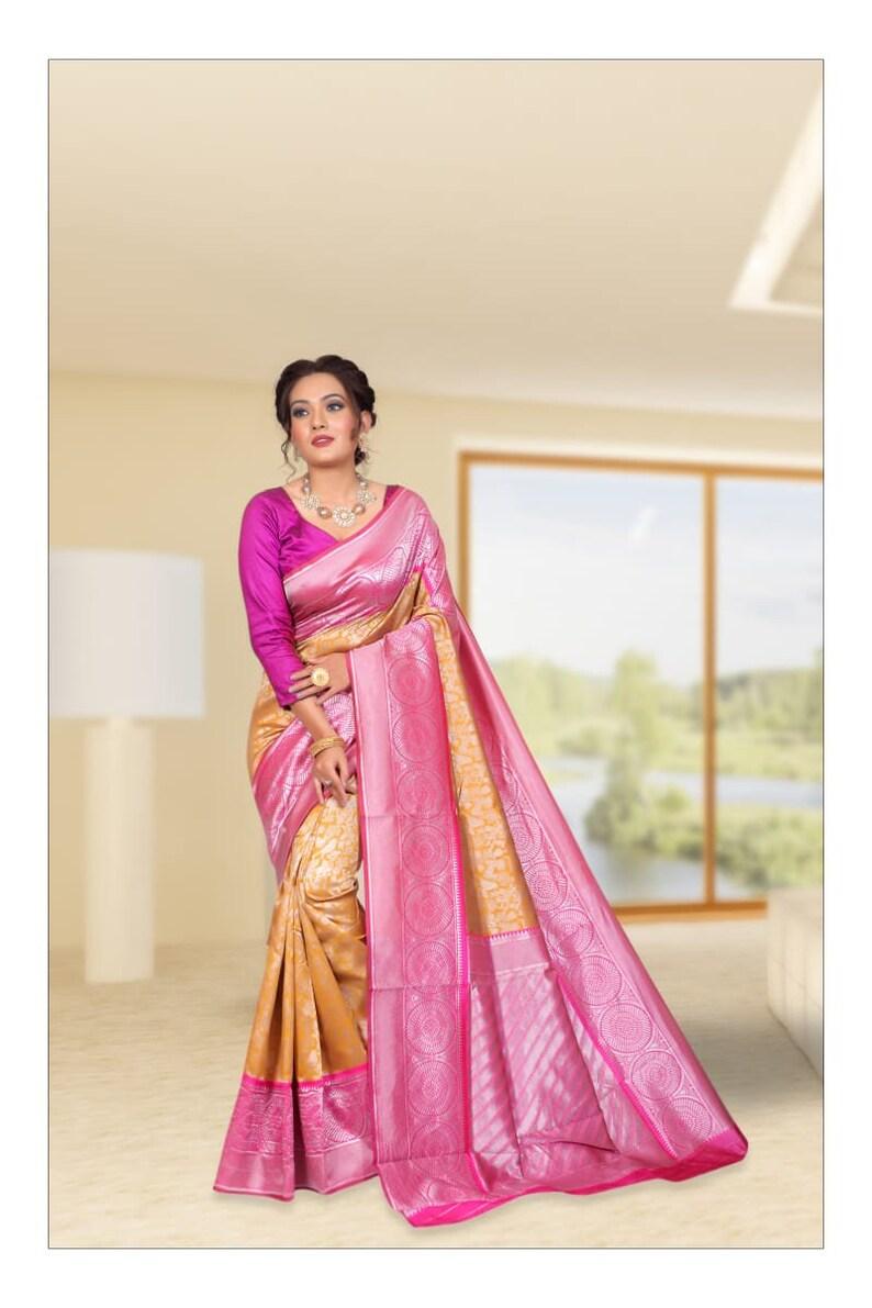 jecard weaving saree Women Kanchipuram soft silk saree