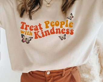 Treat People With Kindness Sweatshirt, Unisex T-shirt/Sweater/Hoodie, Harry Style Shirt, Harry Style Sweatshirt,Love On Tour 2021,TPWK Shirt
